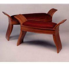 Mahagony Upholstered Stools