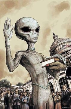Find images and videos about alien on We Heart It - the app to get lost in what you love. Les Aliens, Aliens And Ufos, Ancient Aliens, Alien Gris, Area 51, Art Alien, Science Fiction, Alien Invasion, Psy Art