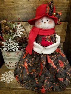 Christmas Snow Globes, Christmas Snowman, Christmas Time, Christmas Ornaments, Primitive Snowmen, Country Crafts, Country Christmas, Holiday Crafts, Christmas Decorations