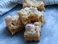 Carrés de pommes crumble au caramel beurre salé