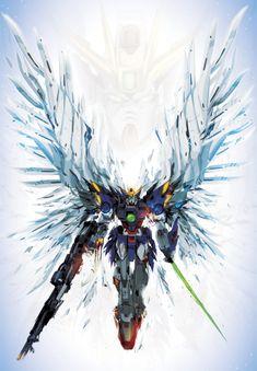 "Continuing on with my ""torn suit"" gundam series, finally got around to one of my fav suit designs. The next on the list also has some pretty cool wings . Gundam Wing, Arte Gundam, Gundam Art, Mecha Anime, Zero Wallpaper, Endless Waltz, Mecha Suit, Gundam Wallpapers, Gundam Mobile Suit"