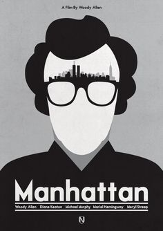 A print Inspired by Woody Allen's 1979 film Manhattanby Needledesign