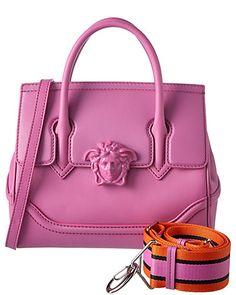 7cd16ff79a96 Rue La La — Versace Palazzo Empire Medium Leather Satchel Versace Bag
