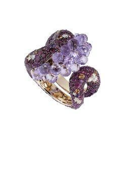 De Grigosono amethyst purple sapphire and diamond  save by Antonella B. Rossi