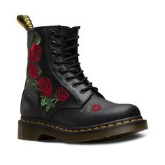Shop Dr Martens 1460 VONDA EMBROID 8 EYE BLK styles at Platypus Shoes for free & fast delivery online, or collect in-store same day. Shop Dr Martens now! Dr. Martens, Dr Martens 1460, Doc Martens Stiefel, Botas Dr Martens, Red Doc Martens, Doc Martens Style, Doc Martens Outfit, Doc Martens Women, Doc Martens Boots Black