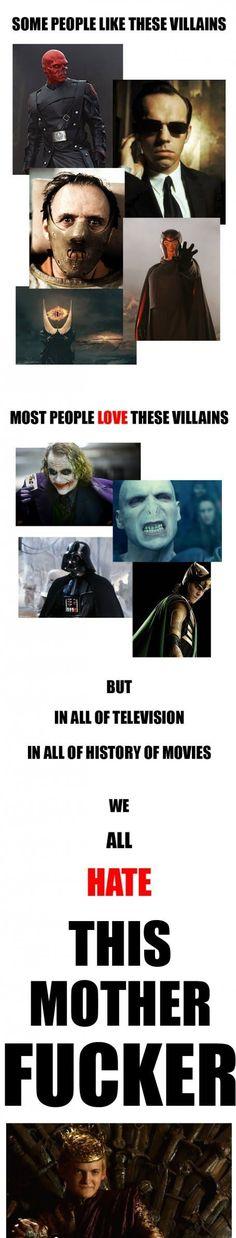 Everyone hates Joffrey