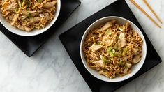 Peanut Chicken Ramen -- With just 4 ingredients, turn a package of ramen into a gourmet meal with leftover shredded chicken and a nutty peanut sauce. Ramen Recipes, Asian Recipes, Gourmet Recipes, Cooking Recipes, Ethnic Recipes, Asian Foods, Budget Cooking, Noodle Recipes, Chicken Ramen Recipe