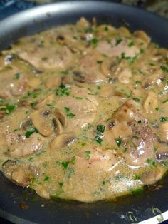 Scrumpdillyicious: Pork Medallions in Mushroom Marsala Cream Sauce. Only used 8 oz of mushrooms, moscato instead of marsala, and half an onion instead of shallots. Very tasty. Pork Marsala, Pork Medallions, Sausage Recipes, Pork Recipes, Cooking Recipes, Pork Meals, Gourmet, Recipes, Sauces
