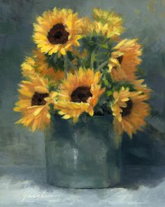"Linda Jacobus, ""Sunny Sunflowers"""