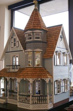 I went to grade school with a girl who had a doll house like this. I wanted so badly to be invited over to her house, just so I could touch it.