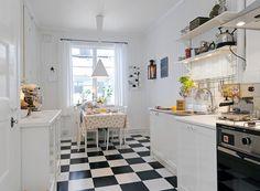Znalezione obrazy dla zapytania czarno biaa wykladzina w kuchni