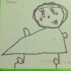 家に帰ると娘の描いた絵。 足の下に出てる棒はハイヒールらしいよ。 - @kazzen- #webstagram