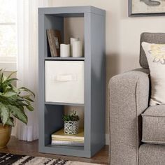 Amazon.com : Better Homes and Gardens BH14-084-099-05 MDF Material 3-Cube Organizer, Gray Color : Office Products