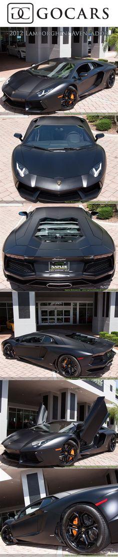 2012 Lamborghini Aventador - Nerro Nemesis Matte Finish  #lamborghini #aventador #lamborghiniaventador #lambo #lamborghiniaventadorlp700 #supercars #supercar #sportscars #sportscar #luxury #luxurycars #lamborghiniphotos #gocars
