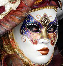 Night Venice Carnival Masks