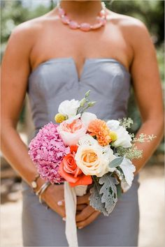 bridesmaid bouquet by The Dainty Lion @weddingchicks