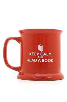 Keep Calm and Read a Book mug