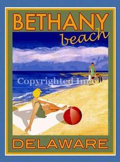 "Bethany Beach, DE  Posters measure 18""x24"" Framed $135.00 Unframed $34.95"