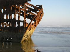 Astoria, Oregon - Fort Stevens & Ship Wreck that remains on beach...beautiful place to visit!