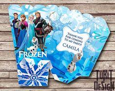 Disney Frozen Movie Popcorn Box  - with Custom Name Disney Frozen Movie Birthday Party on Etsy, $5.00