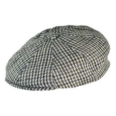1e6655809c29b Jaxon Houndstooth Newsboy Cap (Brown Grey)