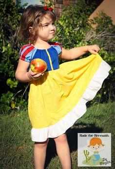 Snow White Dress 5 6 7 8. $46.00, via Etsy.