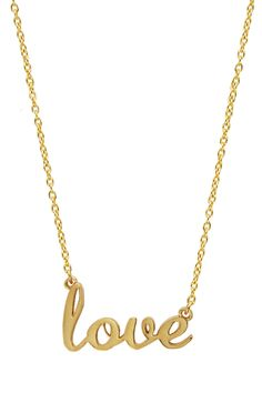 """""""Love"""" Script Necklace <3"""" I always wanted a plated necklace...."""