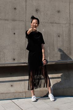 On the street… Seoul fashion week 2016 SS Fashion Week 2016, Grunge Fashion, Asian Fashion, Look Fashion, Asian Street Style, Looks Street Style, Asian Style, Korean Street, Style Outfits