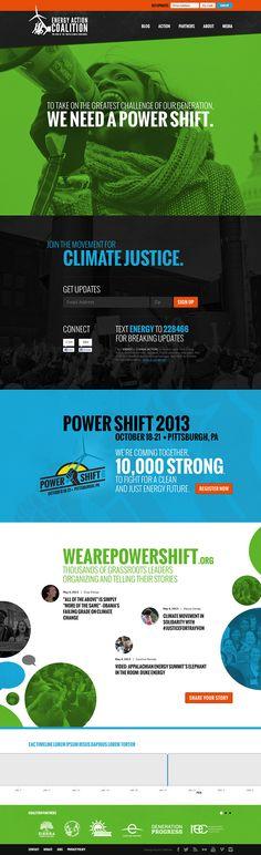 Unique Web Design, Energy Action Coalition #WebDesign #Design (http://www.pinterest.com/aldenchong/)