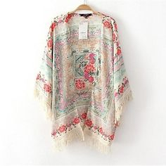 Women's Tassel Kimono. I really want one of these for summer, would look cute with demin shorts or leggings