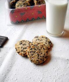 Csokis-kókuszos zabpelyhes keksz