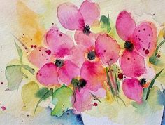 Flower Painting 2 Art Print by Britta Zehm.  All prints are professionally printed, packaged, and shipped within 3 - 4 business days. Choose from multiple sizes and hundreds of frame and mat options.