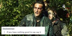 Yeah.. this is so Murphy || John Murphy and tumblr text post by bellblake || The 100 || Richard Harmon
