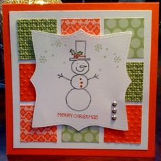 Happy Snowman by BiGstampin - Cards and Paper Crafts at Splitcoaststampers