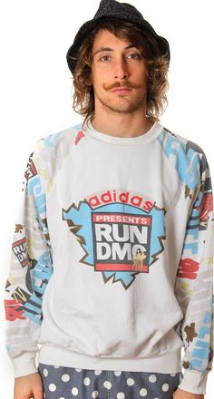 7db6631b669 VINTAGE ALL TIME RUN DMC ADIDAS CREWNECK SWEATSHIRT Basketball Sweatshirts