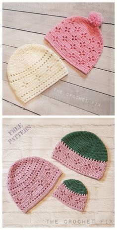 crochet hat patterns Vintage Vibes Beanie Hat Free Crochet Patterns - All sizes baby to adult Crochet Baby Hat Patterns, Crochet Baby Beanie, Crochet Beanie Pattern, Crochet Cap, Easy Crochet, Crochet Stitches, Free Crochet, Crochet Preemie Hats, Crocheted Hats