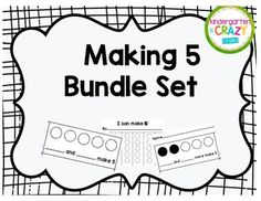 3 easy to use Making 5 activities included: 1) Missing Addend (3 and ___ more make 5) with 5 frames. 2) Missing Addend (___ and ___ more make 5) with empty 5 frames. 3) Making 5 flip book
