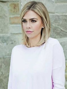 Medium to Short Blonde Haircut More
