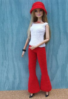 Irresistible Crochet a Doll Ideas. Radiant Crochet a Doll Ideas. Crochet Barbie Patterns, Crochet Doll Dress, Barbie Clothes Patterns, Crochet Barbie Clothes, Clothing Patterns, Fashion Dolls, Fashion Outfits, Fashion Clothes, Cute Crochet