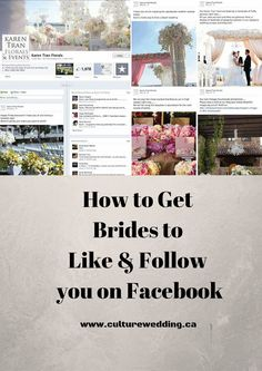 How to Get Brides to Like & Follow you on Facebook