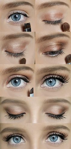 #simple #quick #makeup for #summer #blue #eyes gonna love it)))