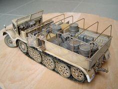 9 Famo, Tamiya by Peter Segers Trump Models, S Models, Scale Models, Model Tanks, Model Hobbies, Military Modelling, Chenille, Panzer, Military Art