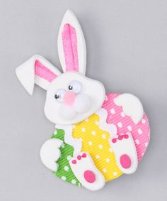 Loving this Rabbit & Egg Bow on #zulily! #zulilyfinds