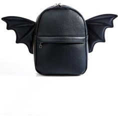 Batshit Cray Backpack ($38) ❤ liked on Polyvore featuring bags, backpacks, white backpack, strap backpack, zipper bag, backpack bags and zip bag