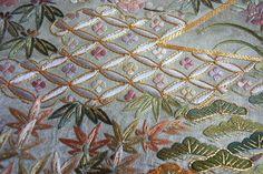 "Ultimate Japanese Embroidery ""Matsuko Takeshi Yamabe Flower Flower Pattern"" Kyo Embroidery Works by Midorita Goda Japanese Embroidered Color Sleeves | Seasonal Japanese Goods Kyoto Kazuko Polarco"