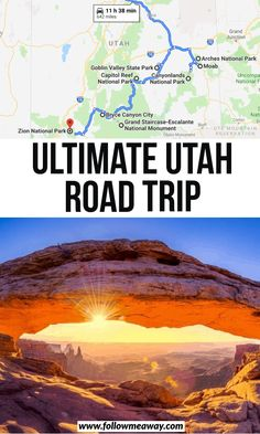 From slot canyons to martian landscapes, this is the ultimate Utah road trip itinerary! It features all 5 Utah National Parks plus lesser known spots! Road Trip Map, Road Trip Destinations, Road Trip Hacks, Travel Maps, Travel Usa, Places To Travel, Texas Travel, Travel Trip, Adventure Travel