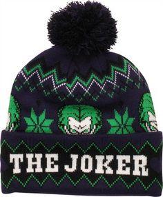 f4e36685150 DC Comics Batman Joker The Joker Knit Cuff Pom Beanie Pom Pom Beanie Hat
