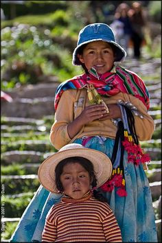 The Sisters – Isla del Sol, Bolivia by Ron Dubin