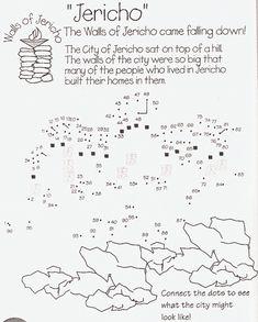 muren van Jericho van stip naar stip