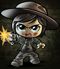 how to draw chibi carl from the walking dead